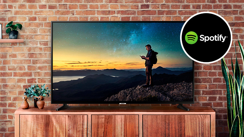 Smart television with Spotify