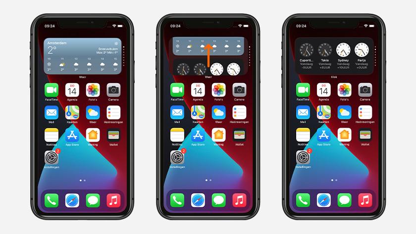 Widgetstapel iPhone