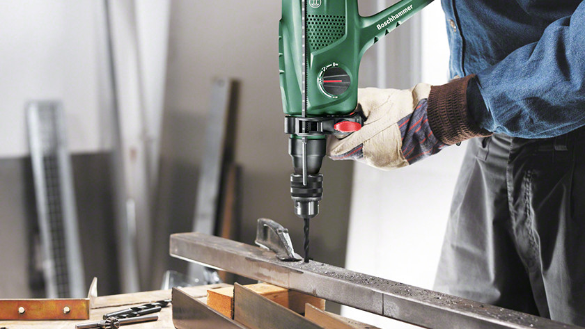 Prevent slipping while drilling metal