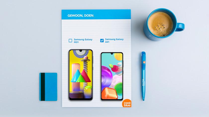 Samsung A41 vs Samsung M31 scherm formaat