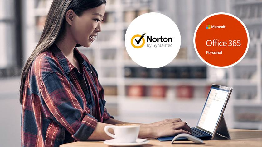 Werken computer 2-in-1 apparaat laptop Norton Microsoft Office 365 programma