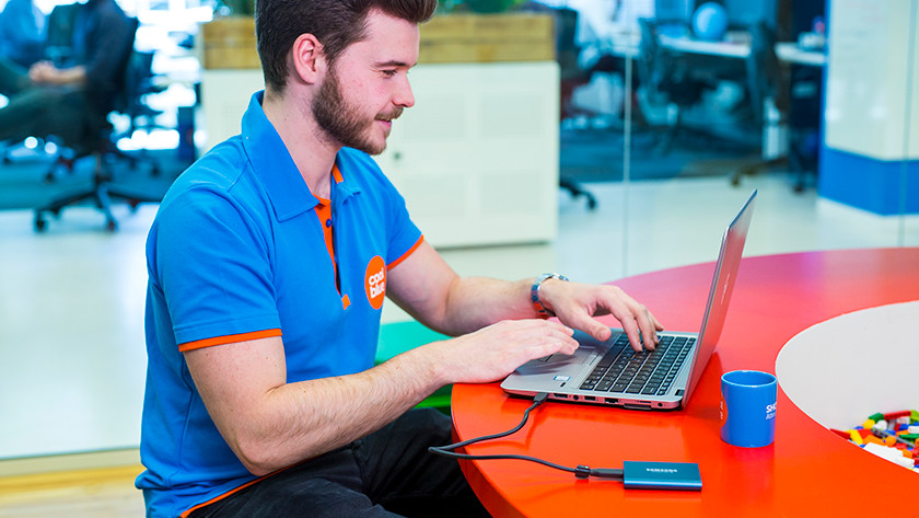 Samsung T5 test laptop