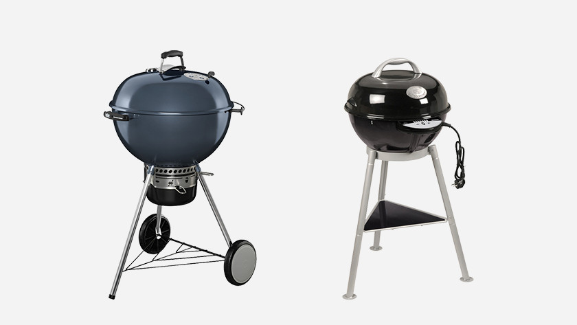 Charcoal vs electric barbecue