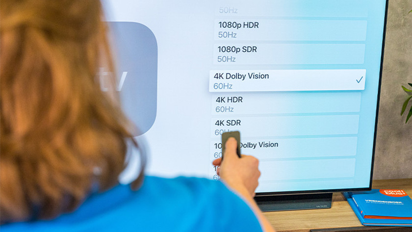 Selecteer een resolutie op je Apple TV