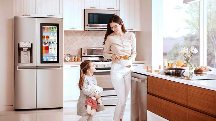 Amerikaanse koelkast keuken
