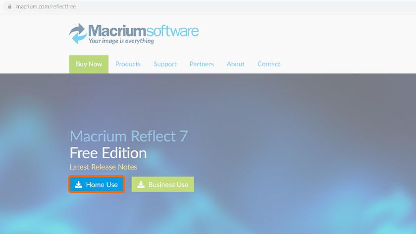 Clone data with Macrium Reflect software