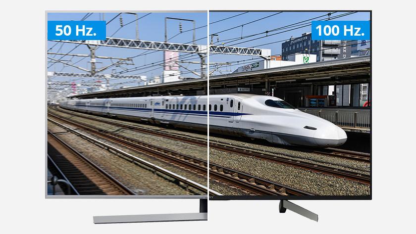 Hoge verversingssnelheid van 100 hertz bij een tv voor sport
