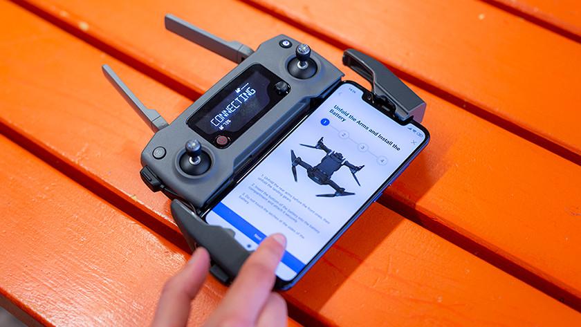 Verbinding maken tussen drone en controller