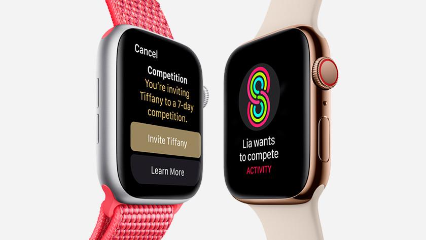 Apple Watch sport against friends