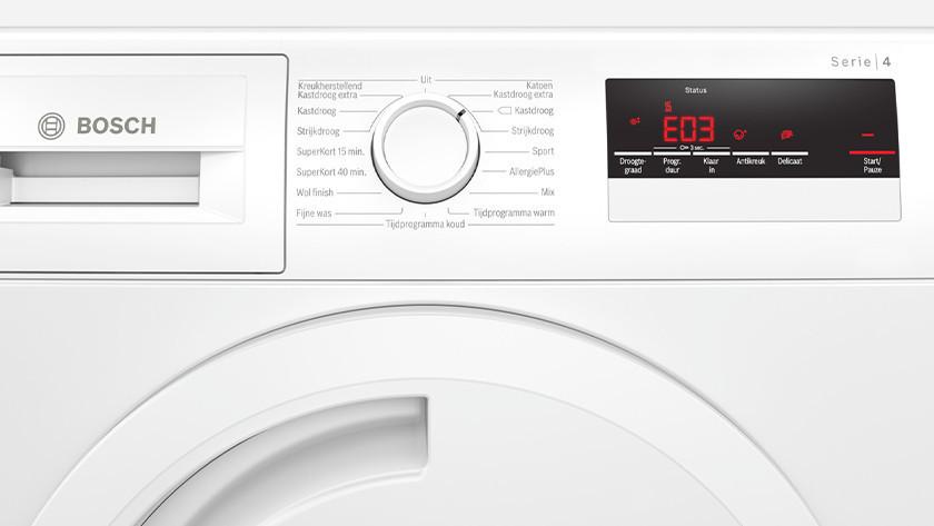 Bosch dryer error