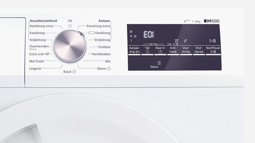 Siemens dryer error E01