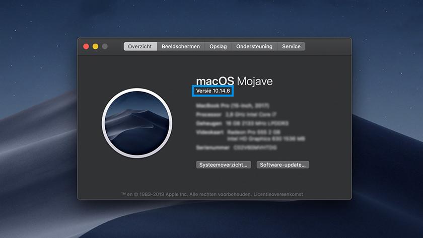 macOS versie opzoeken