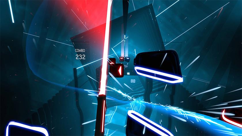 Beat saber spel VR Oculus Quest