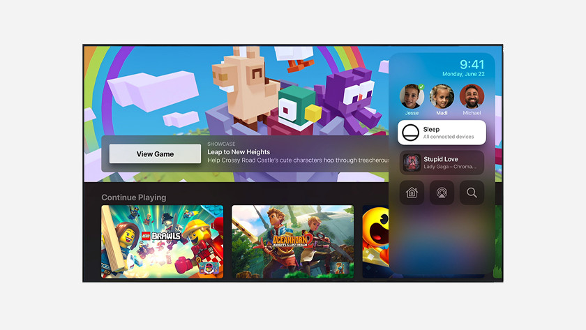 Switch between profiles more easily in Apple Arcade tvOS 14 Apple TV