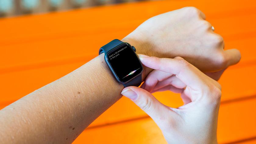 Siri activeren op Apple Watch
