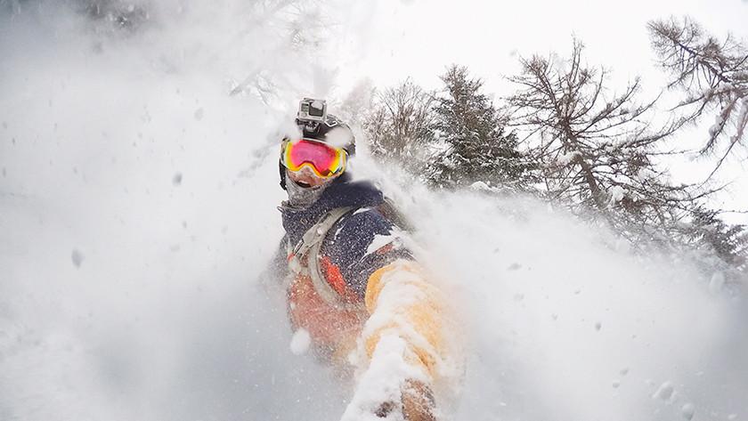 Snowboarder or skier
