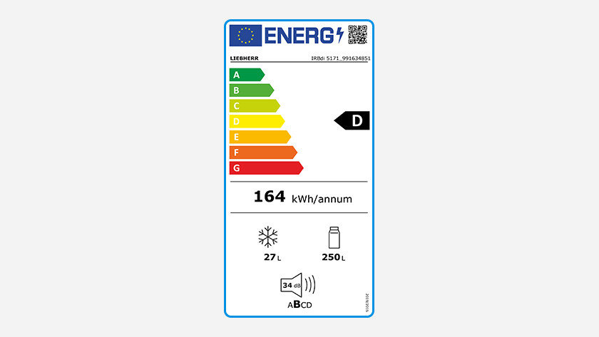 Energy consumption fridge