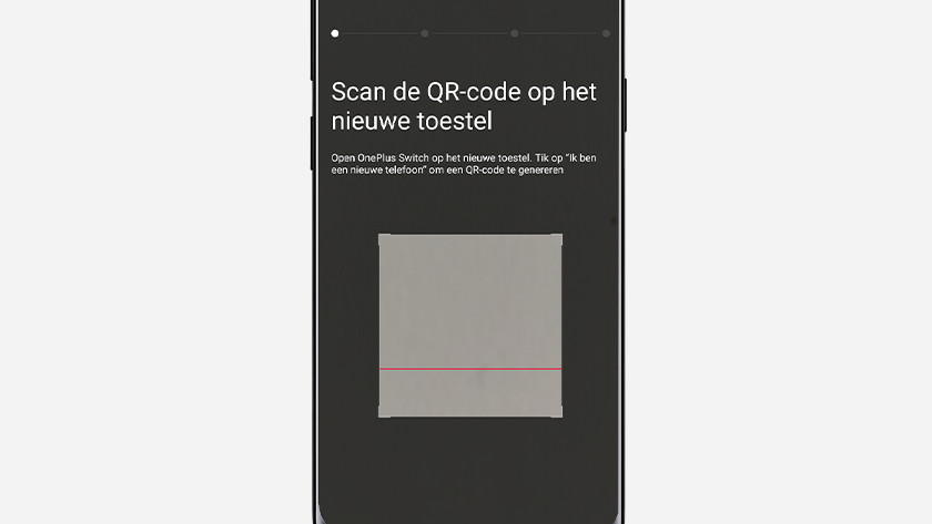 OnePlus Switch QR scanner