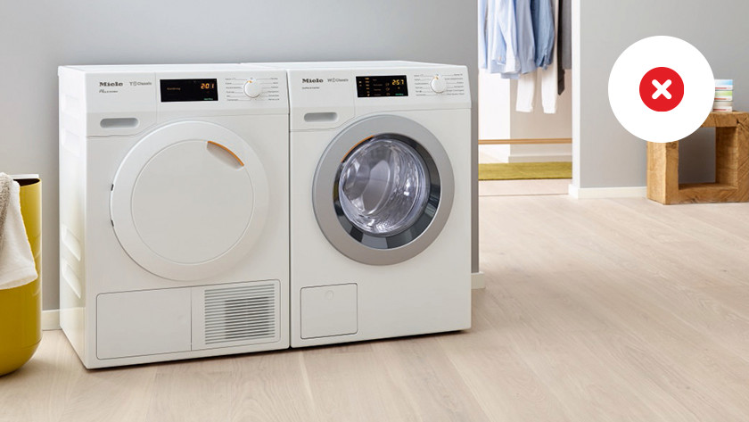 Washing machine on unsuitable flooring