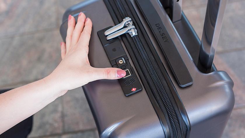 Koffer openen met vingerafdruk