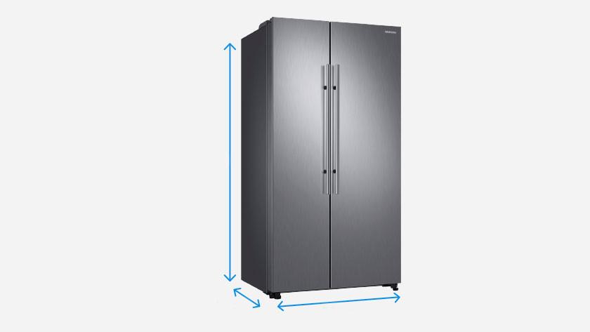 Afmetingen Amerikaanse koelkast