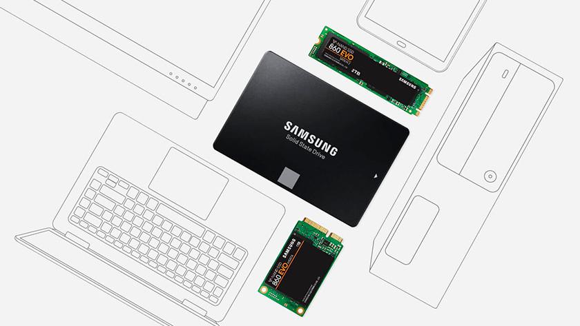 Snelheid Samsung 850 EVO 860 EVO SSD
