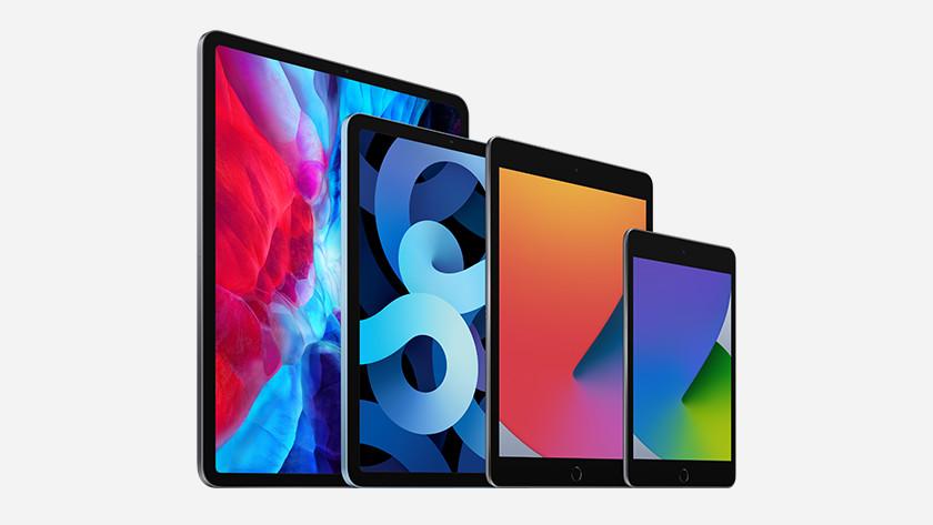 Verschillende iPad modellen