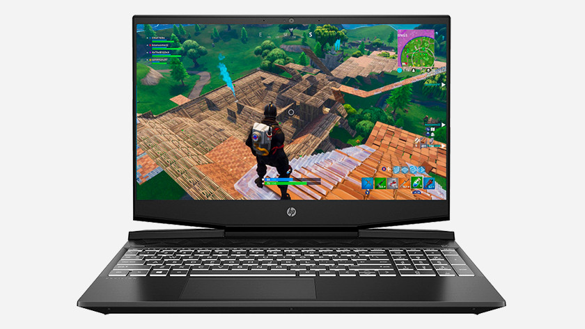 HP laptop with Fortnite.