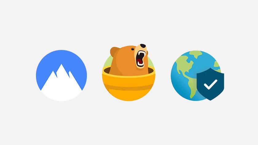 Iconen van VPN services.