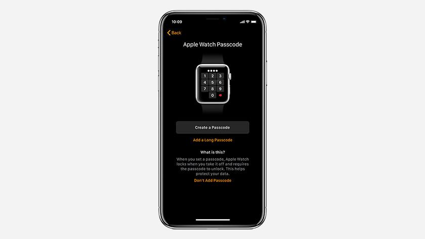 Toegangscode Apple Watch