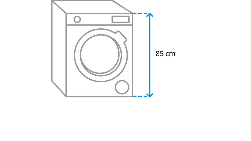 Washing machine height