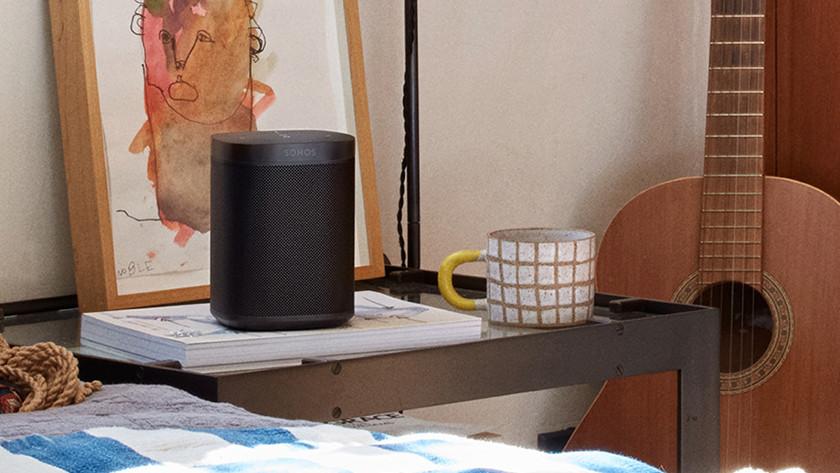 WiFi speaker in use