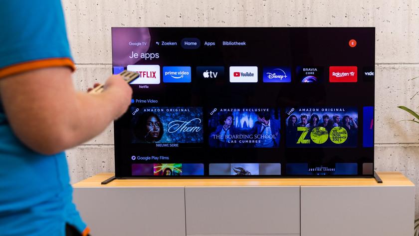 Android platform op de Sony A90J OLED tv