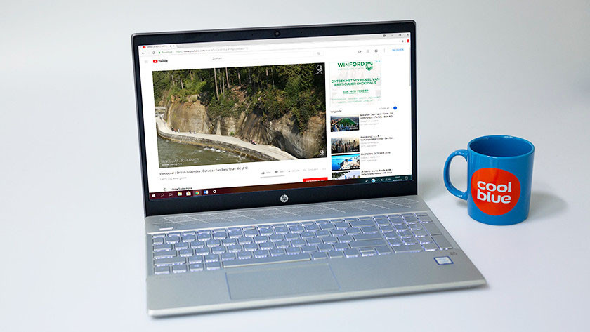 Youtube on the HP Pavilion 15