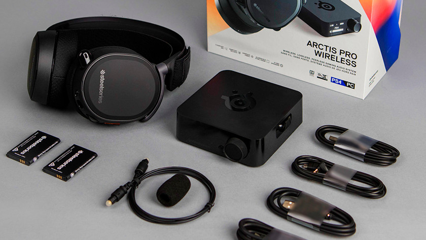 Alle onderdelen van de Arctis Pro