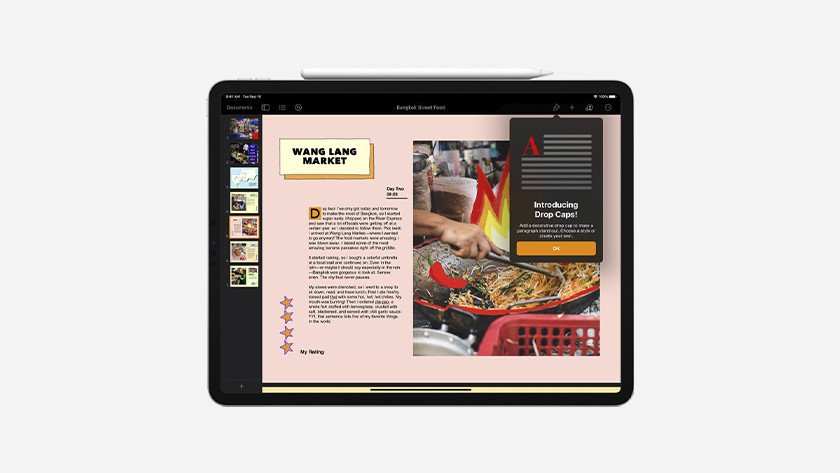 Apple Pages op iPad