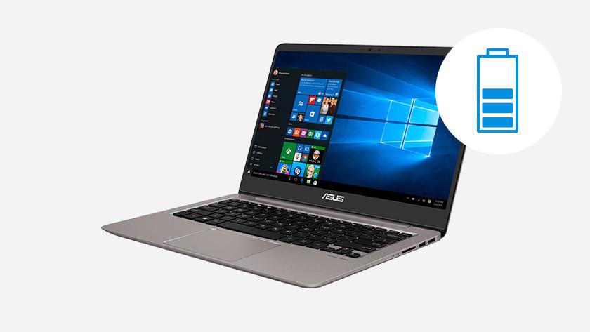 Laptop en half batterij icoon