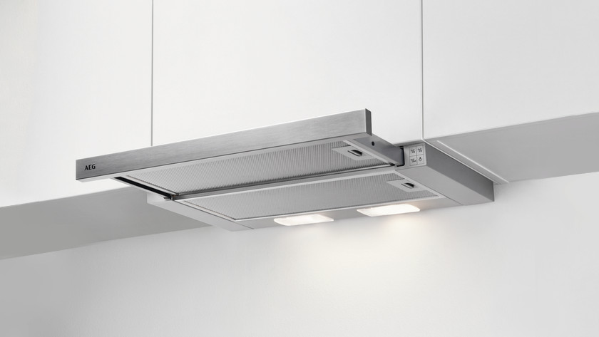 Switch on slide-out range hood