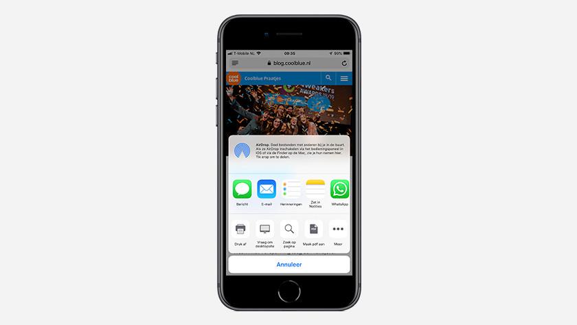 iPhone search function Safari