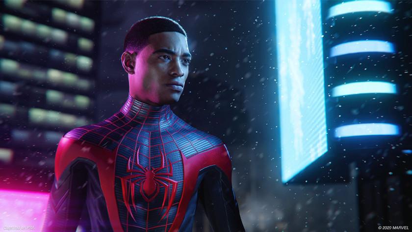 Spider-Man: Miles Moralis op de PlayStation 5.