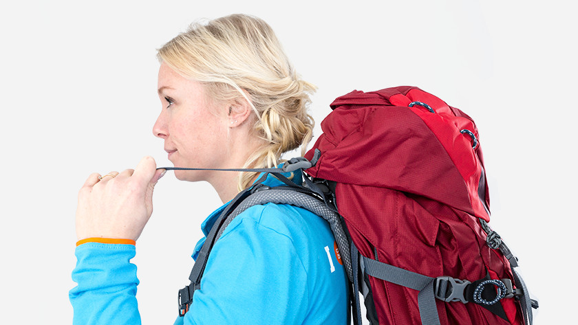 Put on stability straps backpack