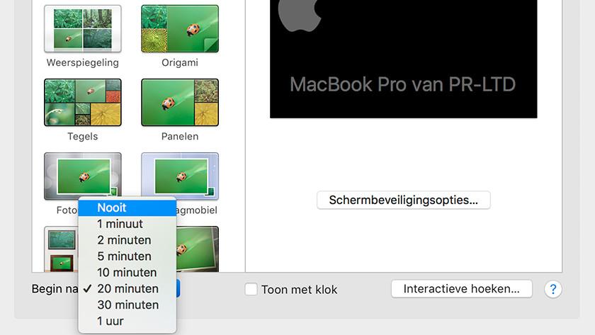 Disable Apple Macbook screensaver