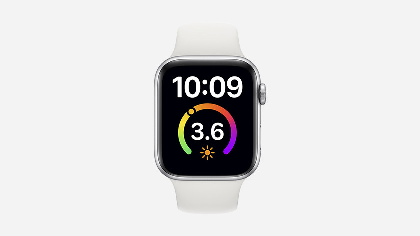 The X-Large watch face has been expanded with room for an app on the watch face.