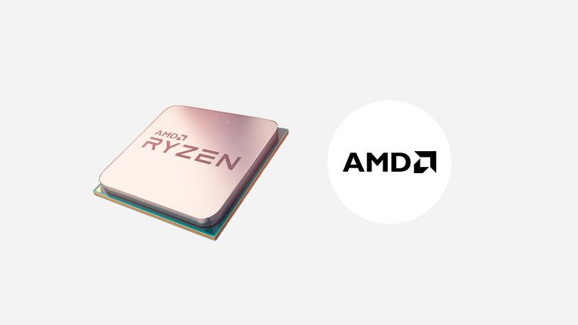 AMD Ryzen processor and AMD logo.