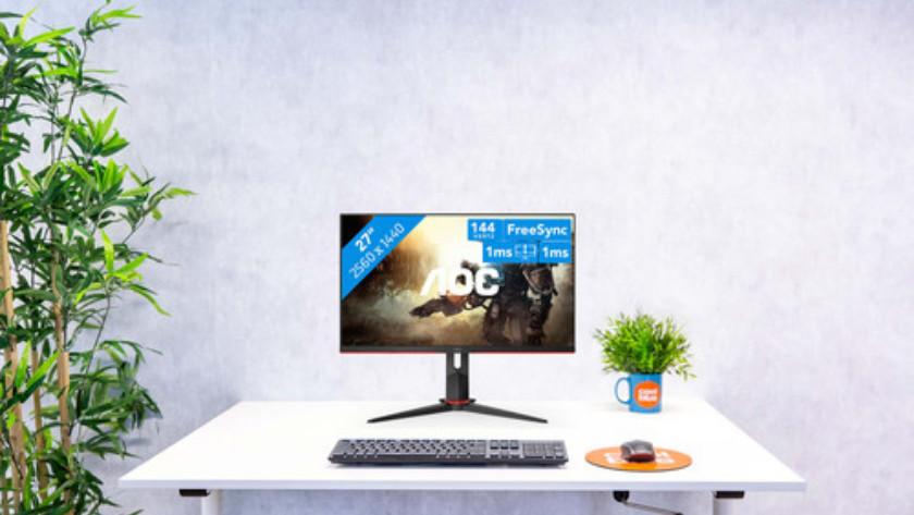 27 inch gaming monitor van AOC