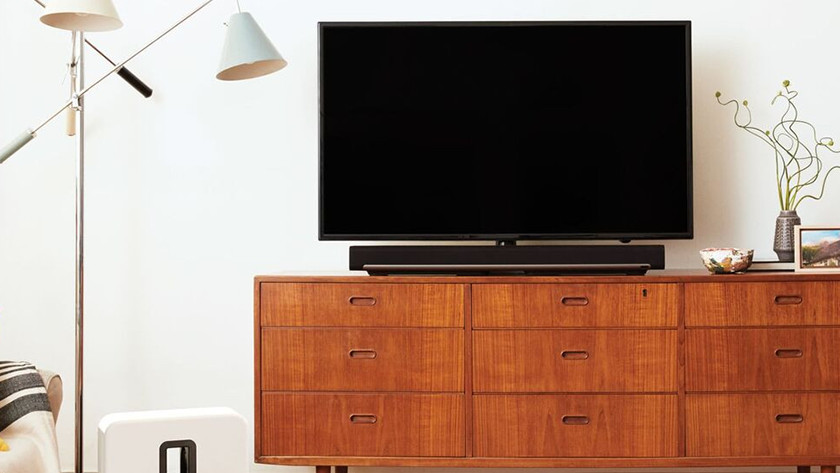 Soundbar onder tv