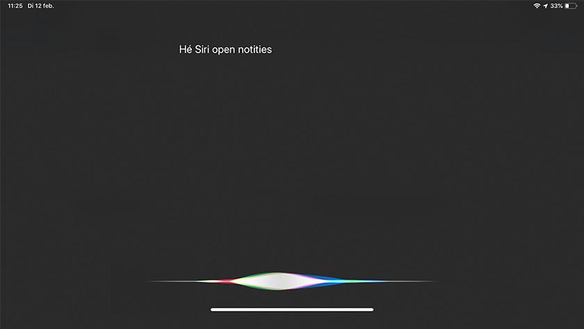 Siri op iPad