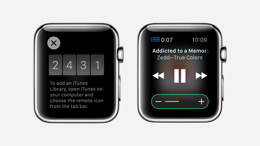 Control iTunes with Apple Watch