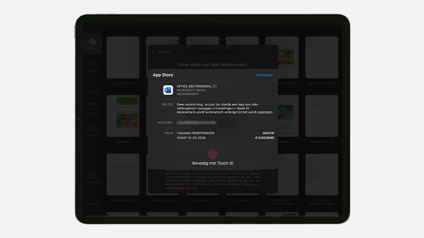 Office op iPad