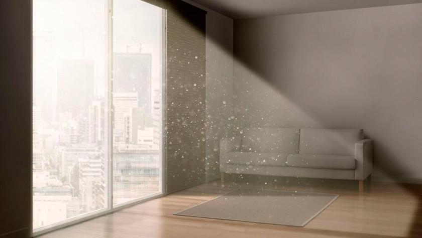 Kamer met luchtvervuiling